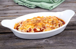 Homemade pasta lasagna Royalty Free Stock Images