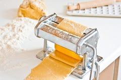 Homemade pasta maker with dough Stock Photos