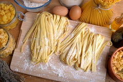 Homemade pasta Stock Photography