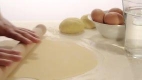 Homemade pasta stock video