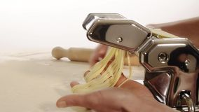 Homemade pasta stock video footage