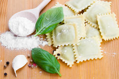 Homemade pasta ravioli Royalty Free Stock Photo