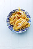 Homemade Pasta Ribbons Stock Photography