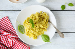 Homemade pasta with sauce Royalty Free Stock Image