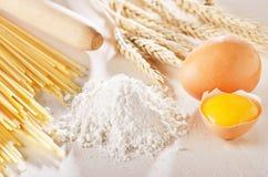 Homemade pasta scene Royalty Free Stock Photo