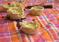 Homemade Pasteis de nata, portugal dessert Stock Photos