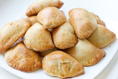 Homemade pasties with potatoes Royalty Free Stock Image