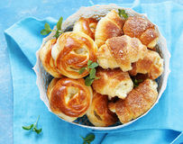 Homemade pastries, muffins, sweet buns for Easter Royalty Free Stock Image