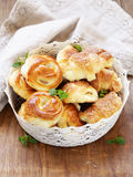 Homemade pastries, muffins, sweet buns for Easter Royalty Free Stock Photography