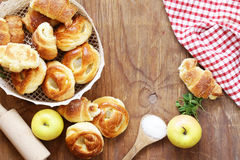 Homemade pastries, muffins, sweet buns for Easter Royalty Free Stock Photos