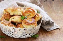 Homemade pastries, muffins, sweet buns for Easter Stock Photography