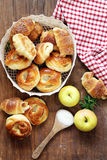 Homemade pastries, muffins, sweet buns for Easter Royalty Free Stock Photo