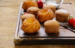 Homemade pastries, sweet muffins Stock Photography