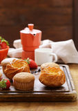 Homemade pastries, sweet muffins Stock Photo