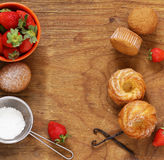 Homemade pastries, sweet muffins Stock Images
