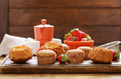 Homemade pastries, sweet muffins Royalty Free Stock Image