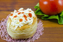 Homemade pastry with cheese and vegetables Stock Images