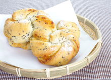 Homemade pastry filled with cheese and sesame Stock Photos