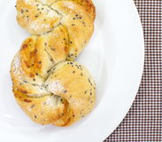 Homemade pastry filled with cheese and sesame Royalty Free Stock Photo