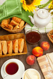 Homemade pastry puff pastry Stock Photos