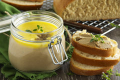 Homemade pate chicken liver Royalty Free Stock Photos