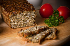 Homemade pate with eggs, mushrooms corn and spices Royalty Free Stock Image