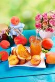 Homemade peach jam Stock Photos
