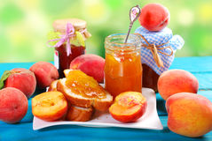 Homemade peach jam Royalty Free Stock Images