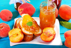 Homemade peach jam Royalty Free Stock Photo