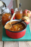 Homemade peach jam Royalty Free Stock Photo