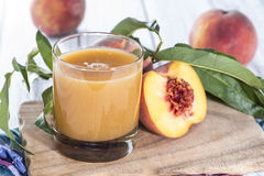 Homemade Peach Juice Stock Photography