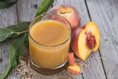 Homemade Peach Juice Royalty Free Stock Image