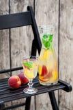 Homemade peach mint lemonade Stock Images