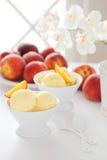 Homemade peach sorbet Royalty Free Stock Photos