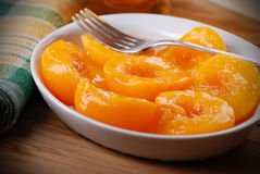 Homemade peaches in syrup Royalty Free Stock Images