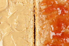 Homemade Peanut Butter and Jelly Sandwich Royalty Free Stock Image