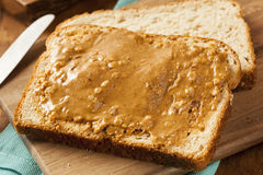 Homemade Peanut Butter and Jelly Sandwich Royalty Free Stock Photo