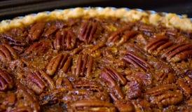 Homemade Pecan Pie. Closeup of sticky homemade pecan pie Stock Images