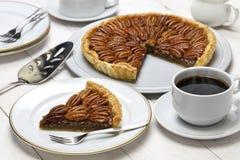 Homemade pecan pie Stock Images