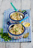 Homemade pelmeni Stock Image