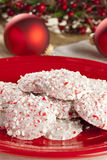 Homemade Peppermint Christmas Cookie Stock Image