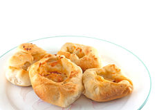 Homemade Pepperoni And Cheese Rolls Royalty Free Stock Photos