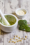Homemade Pesto Stock Images