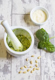 Homemade Pesto Royalty Free Stock Photo