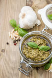 Homemade Pesto Sauce Royalty Free Stock Images