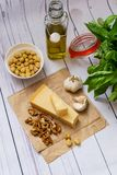 Homemade Pesto sauce stock photo