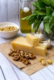 Homemade Pesto sauce stock images