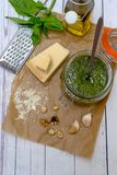 Homemade Pesto sauce stock photos