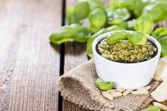 Homemade Pesto Sauce Royalty Free Stock Photo