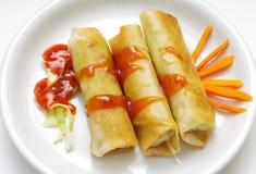Homemade Philippine egg rolls. Royalty Free Stock Image
